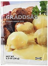 10 x 1.3oz IKEA Swedish Meatball Cream Creme Sauce Gravy Mix Graddsas - 10 Packets per order