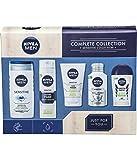 NIVEA MEN Sensitive Kit Gift Set (5-Piece) Sensitive Skin Men Gift Set Includes Full-Size Deodorant, Face Wash, Aftershave Balm, Men
