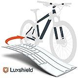 Luxshield Film de Protection Cadre du vélo pour vélo de Route, vélo électrique, VTT, BMX, etc. - Pack de 21 pièces Contre des éclats de Pierres - Transparent Brillant & Autocollant