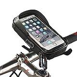 PINKAH Rotation 360 °, sacs de guidon imperméables à vélo pour téléphone cellulaire de 6,0 pouces ou moins