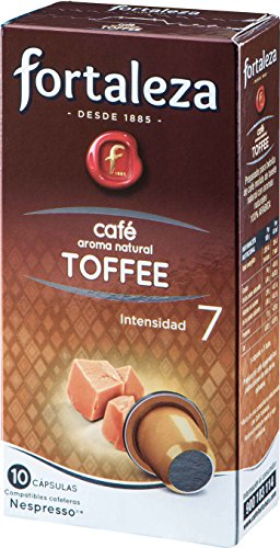 Café FORTALEZA - Cápsulas de café con Aroma Toffee Compatibles con Nespresso - Pack 5 x 10 - Total...