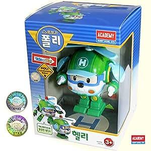 Transformer robot h licopt re vert robocar poli helly - Jeux robocar poli ...