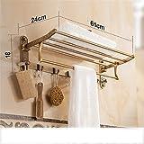 Touyyo Set di ciondoli in ottone anticato per il bagno, set di accessori, porta asciugamani