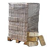 ▶ Holzbriketts Hartholz-Mix, *0,36€/kg*, 960kg auf Palette, kostenfreie Lieferung, handlich verpackt in 96 Pakete à 10kg, ohne Bindemittel hergestellt, Holz-Briketts, Hartholzbriketts