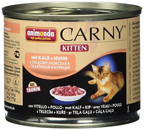 Animonda Carny 83492 Kitten Kalb+Huhn 12 x 200 g - Katzenfutter