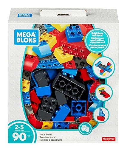 Mega Bloks FLY44 - Zeit für Bauspaß Jumbo Bausteine Box (90 Teile), Spielzeug ab 2 Jahren