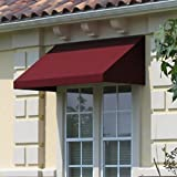 Awntech 3-Feet New Yorker Window/Entry Awning, 16-Inch Height by 30-Inch Diameter, Black