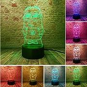 La 3D LED Optical Illusion Lamp è una combinazione di arte e tecnologia che crea un'illusione ottica 3D e gioca brutti scherzi agli occhi. Quando vieni da lontano, vedrai il design, ma man mano che ti avvicini, vedi un sottile foglio di lamie...
