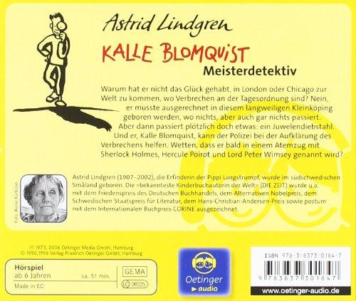 Kalle Blomquist Meisterdetektiv: Hörspiel von Kurt Vethake: Alle Infos bei Amazon