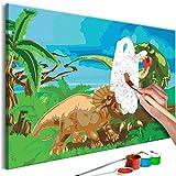 murando - Malen nach Zahlen Dinosaurier 60x40cm Malset DIY n-A-0718-d-a