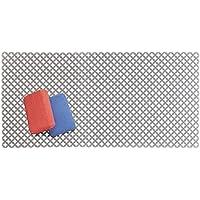 mDesign Tapete antideslizante para proteger el fregadero de arañazos – Alfombrilla de PVC extragrande – Protector de fregadero de cocina con diseño de rejilla – gris pizarra