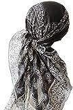 Deresina Headwear -  Fazzoletto da testa  - Donna 506 Black Grey Frame Taglia unica
