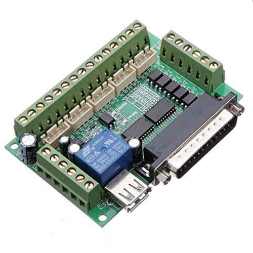 Ils - 5-Achsen-CNC-Ausbruch-Interface Board für Stepperfahrer Mach3 mit USB-Kabe