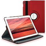 kwmobile Housse 360° pour Asus ZenPad 10 étui avec support - housse de protection pour tablette avec fonction support en rouge