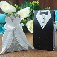 Bismarckbeer - 100 bolsas de regalo para vestido de novia o boda, con diseño de esmoquin