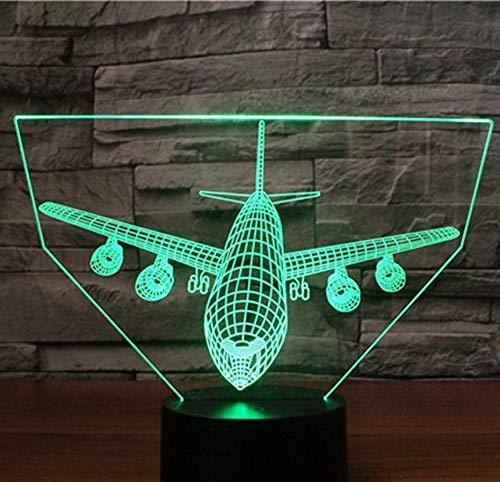 3D Led Nachtlicht Schlag Hang Raketen Bomber Positiv Kommen Mit 7 Farben Licht Flugzeug Flugzeuge Für Heimtextilien Lampe Touch Switch 7 Farbwechsel