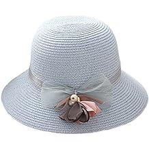Youkara Sombrero de paja de verano para niñas 9b76805cd23b