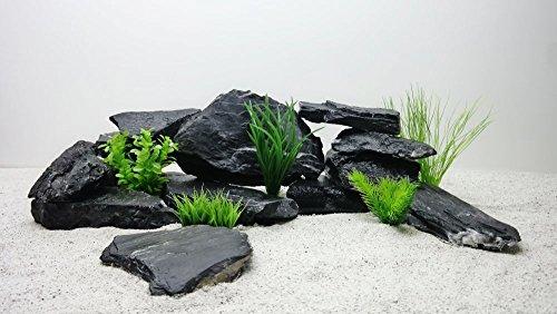 Pro STÜCK Aquarium Deko Natursteine in schwarz Nr.66 Dekoration Steinrückwand Steine Felsen