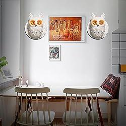BESPD lámpara de pared Búho resina creativa escandinavo moderno apliques de Salón Dormitorio Pasillo Sala de Lectura escalera 15-W8505-2 con G80 2 Enumeración de burbujas