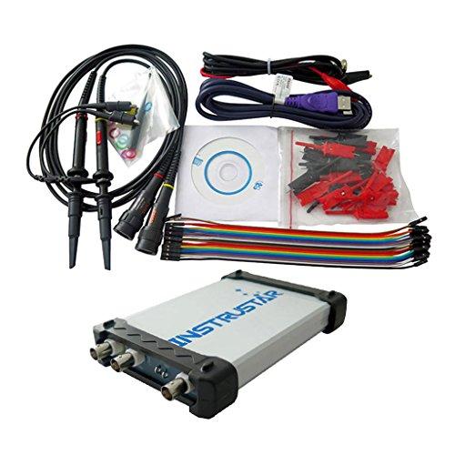 Baoblaze Testausrüstung PC-basierte 3in1 USB Virtual Digital-Oszilloskop 2CH Spektrumanalysator Datenlogger
