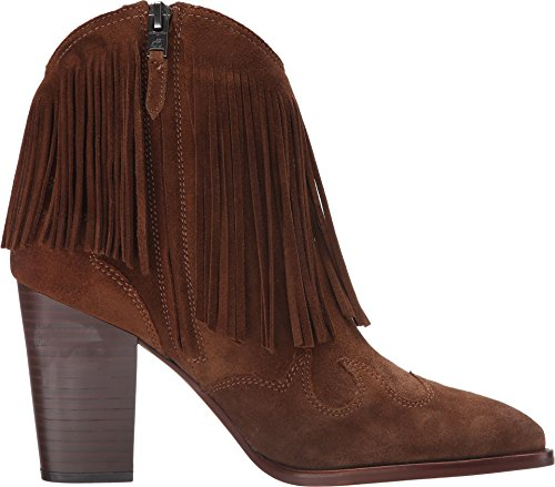 Demi-botte texan avec talon Sam Edelman Benjie en chamois marron cuir Woodland Brown Velour Suede Leather