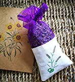 AzuNaisi Natürliche Lavendel Dry Flower Taschen Dunkle Purple natürlichen Duft Duft für Aromatherapie Car Closet Schubladen Locker Schuhschrank |1 Stück Schuhzubehör