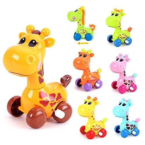 MMRM Cute Plastic Wind Up Juguete Correr Animal Giraffe Bebé Niños Juguete De Color Aleatorio