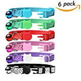 SCENEREAL CO. Cat Collars Quick Release with Bell Set of 6 Dot Printing (Red, Blue, Pink, Black, Green, Purple)
