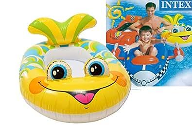 """INTEX Le bateau gonflable """"requin"""" jouet de bain, gris"""