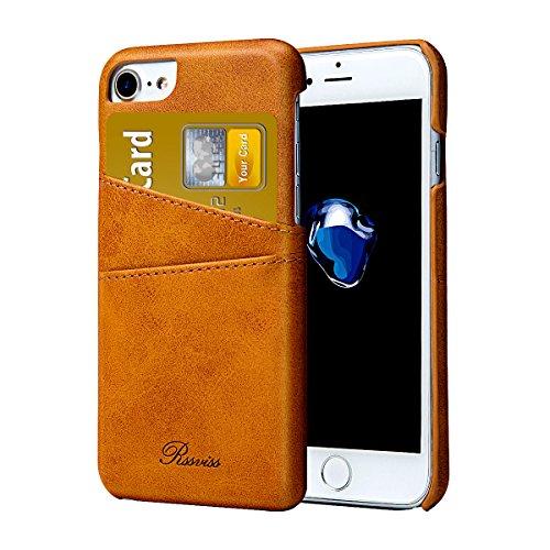 """Rssviss Funda iPhone 6/6s - Cáscara de Piel iPhone 6/6s [2 Ranuras para Tarjetas y Dinero en la Parte Posterior] Estuche para Apple iPhone 6/6s 4.7"""" Amarillo"""