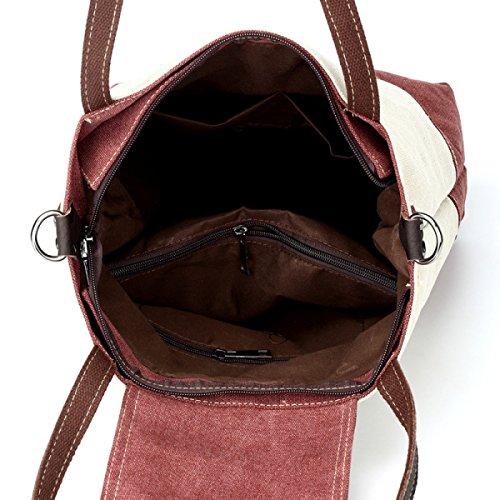 Schlagfarbe Kleine Frische Segeltuchschulterbeutel Weibliche Diagonale Paket Einfache Spielraumbeutel Purple