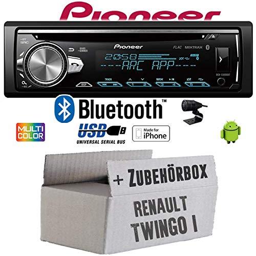 Renault Twingo 1 - Autoradio Radio Pioneer DEH-S5000BT - Bluetooth | CD | MP3 | USB | Android | iPhone 12V Radiopaket Einbauzubehör - Einbauset