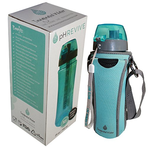 PH REVIVE Alkaline Water Filter Bottle Carry Case Water Purifier - Alkaline water bottle