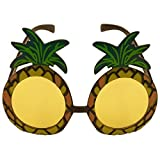2 x Ananas-Sonnenbrille Specs Hawaiian Hula Fancy Dress Up Kostüm Zubehör