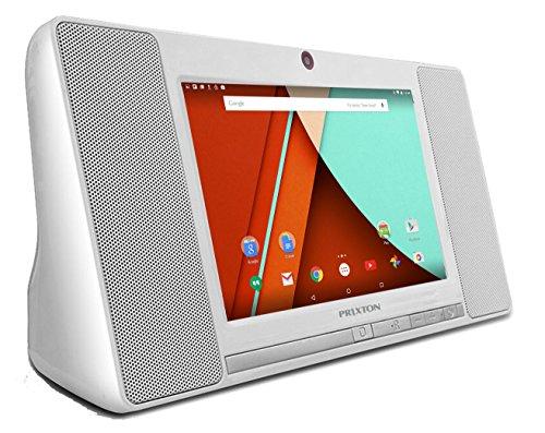 Prixton TM100 Tablet Mini-Anlage,17,8 cm (7 Zoll) Tablet (WLAN, Bluetooth, QuadCore AllWinner A33, 1 GB RAM, 8 GB interner Speicher, Android 5.0), Weiß (Ipad Mini Halterung Ram)
