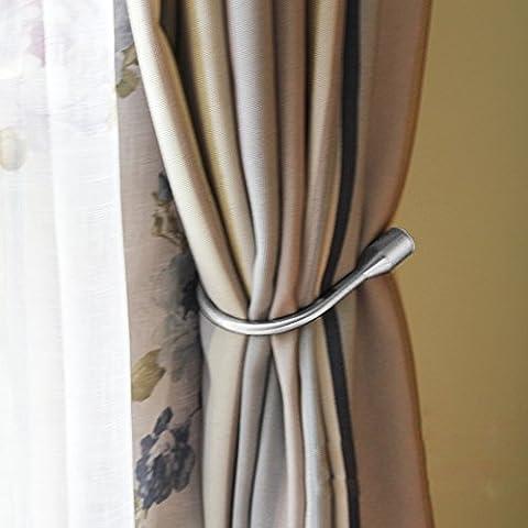 Vorhang Raffhalter, EgoEra® Metall Vorhang Raffhalter Haken Holdbacks Tiebacks / Zugband Haken / Wand U Haken Vorhanghalter Raffhalter, Silber
