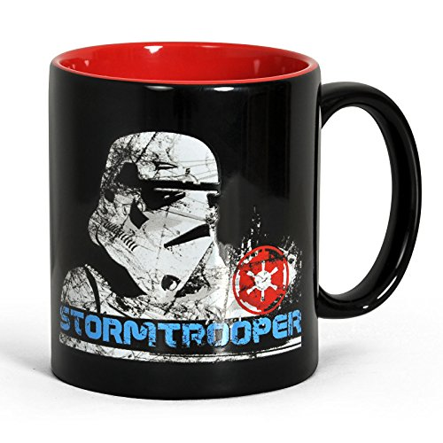 Star Wars Stormtrooper Tasse Kaffebecher lizenziert 300 ml spülmaschinengeeignet schwarz