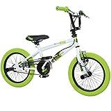 16 Zoll BMX deTOX Freestyle Kinder BMX Anfänger ab 115 cm 5J, Farbe:weiss/grün