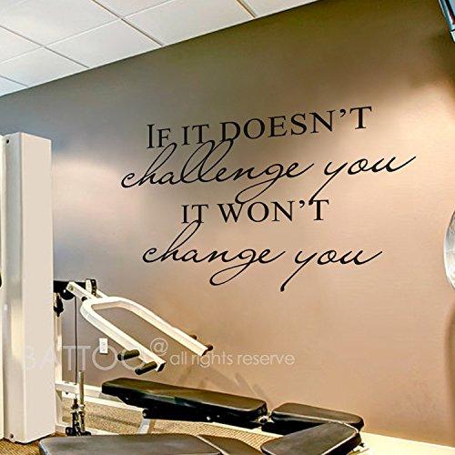 ufkleber, If It Doesn't Challenge You. Wandaufkleber mit Zitat It Won't Change You Art Deco 54