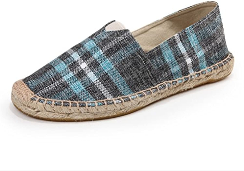 HAOYUXIANG Nuove scarpe di lino alla moda moda moda ventilazione uomini e donne scarpe di tela tessuto cucito a mano scarpa...   Di Prima Qualità  e2c4ae