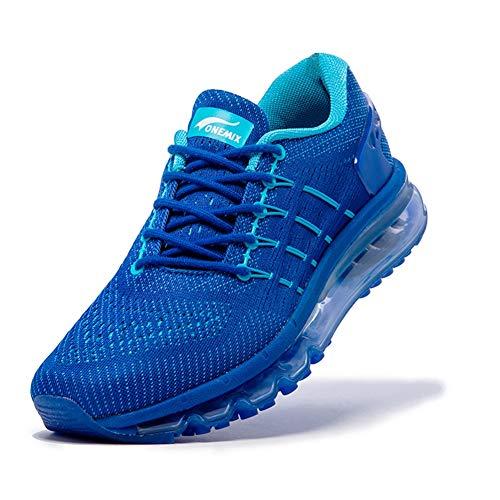 CHANG Scarpe da Running Uomo, Scarpe Sportive Leggero Traspirante, per La Scarpa da Jogging All'Aperto, Dimensione 39-46,Blue,44