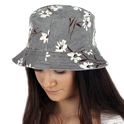 b7eea0f5a49 TOSKATOK UPF 50+ Ladies Women s Soft Fine Floral Print Summer Hat-Grey ·  TOSKATOK® LADIES WOMENS REVERSIBLE COTTON BATIK BUSH BUCKET SUN ...