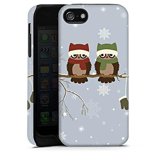Apple iPhone 5s Housse étui coque protection Hibou Hibou Uhu Cas Tough terne