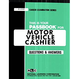 Motor Vehicle Cashier (Career Examination Passbooks, Band 1722)