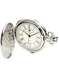 Charles-Hubert 2C Paris Charles-Hubert, Paris 3922 Classic Collection Chrome Finish Brass Quartz Pocket Watch