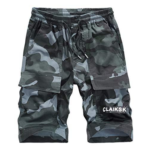 Dasongff Bermuda Shorts Herren Sommer Cargo Camouflage Shorts Sweatpants Sweatpants Gym Jogginghosemit Vielen Taschen Baumwolle Jägerhose Outdoorhose Freizeithose M-4XL Cargo-kinder-capris