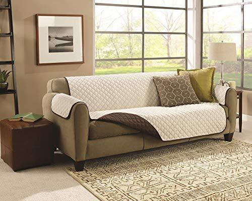 Exclusiva funda de sofá de 3 plazas reversible,ligera y con acolchado de nueva generación, tela fresca y agradable al tacto.Funda con reposabrazos. ...