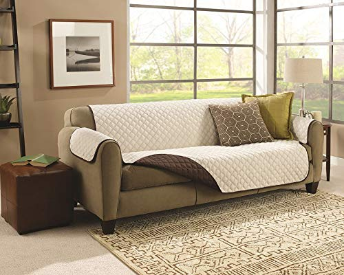 Exclusiva funda de sofá de 3 plazas reversible