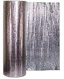 Lámina de aislamiento metálico Solar Bay, 30 m2, color plateado, 2 en 1, de polímero, doble lámina, con una sola burbuja de 4 mm, grosor de 1,2 x 25 m