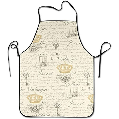French Art Pottery (XCVNBX Unisex Kitchen Vintage Aprons People Illustrations Chef Apron Cooking Apron Barbecue Vintage Aprons)